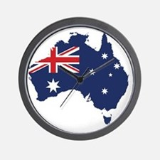 Flag Map of Australia Wall Clock