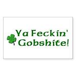 Feckin' Gobshite Rectangle Sticker