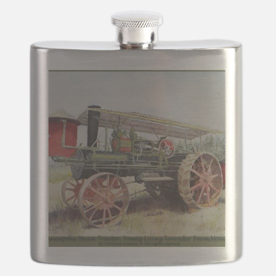 The Minneapolis Steam Tractor Flask