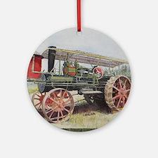 The Minneapolis Steam Tractor Round Ornament
