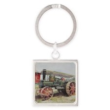 The Minneapolis Steam Tractor Square Keychain