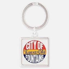 Kansas City Vintage Square Keychain