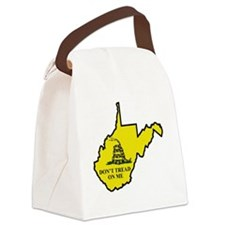 WV Dont Tread On Me Logo Canvas Lunch Bag