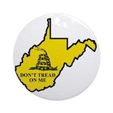 WV Dont Tread On Me Logo Round Ornament