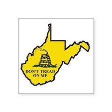 "WV Dont Tread On Me Logo Square Sticker 3"" x 3"""