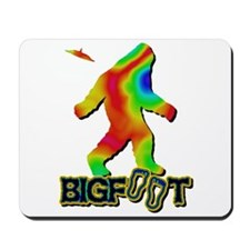 Bigfoot Rainbow Colored Mousepad