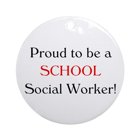 Proud School SW Ornament (Round)
