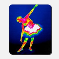 Ballerina, thermogram Mousepad
