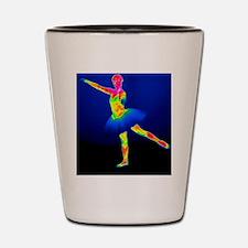 Ballerina, thermogram Shot Glass