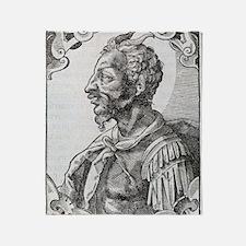 Attila, Emperor of the Huns Throw Blanket