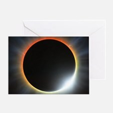 Annular solar eclipse, artwork Greeting Card