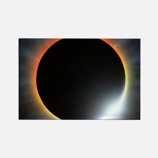 Annular solar eclipse, artwork Rectangle Magnet