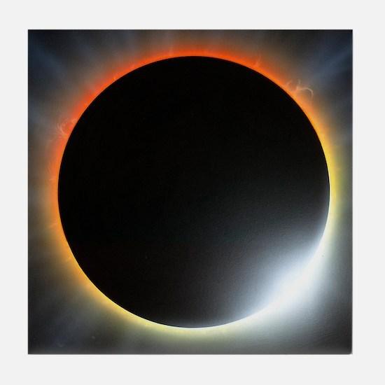 Annular solar eclipse, artwork Tile Coaster