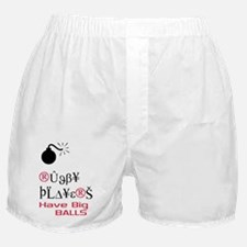 """Rugby Players Have Big Balls"" Boxer Shorts"