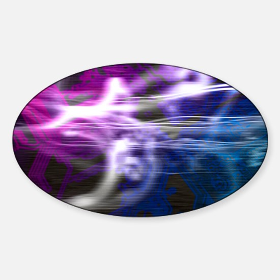 Abstract artwork Sticker (Oval)