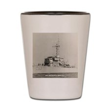 uss assurance calendar Shot Glass