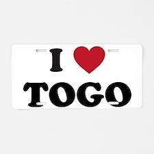 I Love Togo Aluminum License Plate