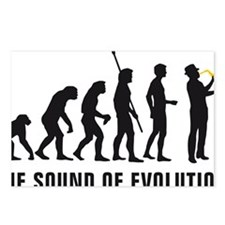 evolution saxophone playe Postcards (Package of 8)