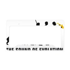 evolution saxophone player License Plate Holder
