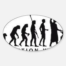evolution blacksmith Sticker (Oval)