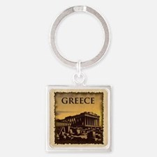 Acropolis Of Athens Square Keychain