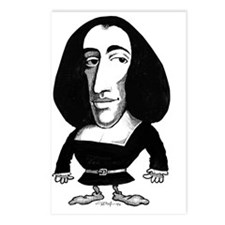 Baruch Spinoza, caricatur Postcards (Package of 8)
