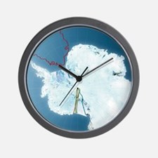 Antarctic exploration, route maps Wall Clock