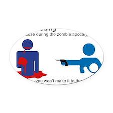 Breastfeeding Zombie Apocalypse Oval Car Magnet