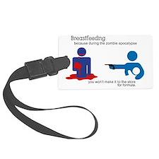 Breastfeeding Zombie Apocalypse Luggage Tag