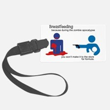 Breastfeeding Zombie Apocalypse Luggage Tag