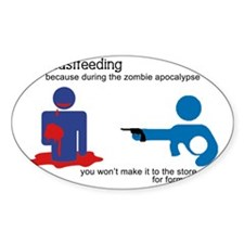 Breastfeeding Zombie Apocalypse Decal