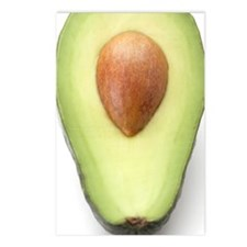 Avocado half Postcards (Package of 8)