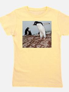 Adelie penguin colony Girl's Tee