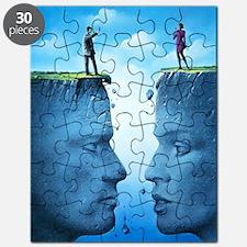 Battle of the sexes, conceptual artwork Puzzle