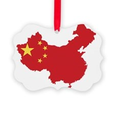 Flag Map of China Ornament
