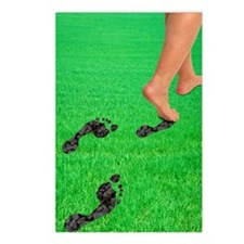 A woman's feet leaving ca Postcards (Package of 8)
