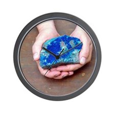 Azurite mineral sample Wall Clock