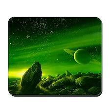Alien ringed planet, artwork Mousepad