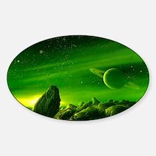 Alien ringed planet, artwork Decal
