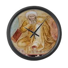 Averroes, Islamic physician Large Wall Clock