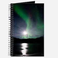 Aurora borealis and Moon Journal