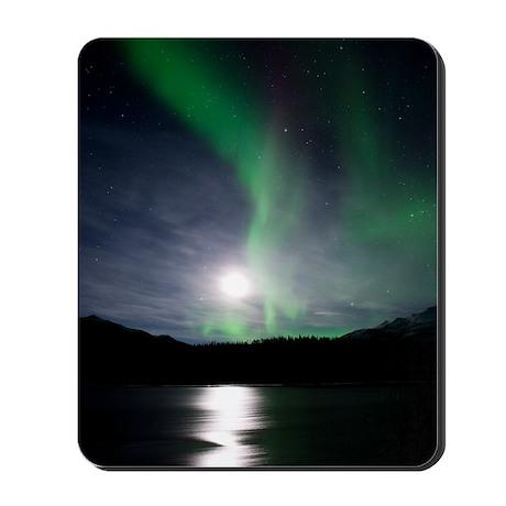 Aurora borealis and Moon Mousepad