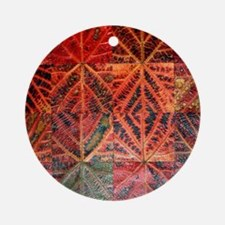 Autumnal leaves Round Ornament