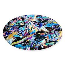 Actinolite mineral, light micrograp Decal