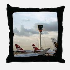 Air traffic control tower, UK Throw Pillow