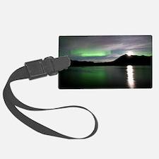 Aurora borealis and Moon Luggage Tag