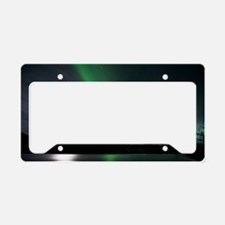 Aurora borealis and Moon License Plate Holder