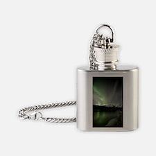 Aurora borealis Flask Necklace