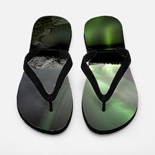 Aurora borealis Flip Flops