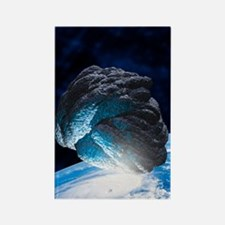 Asteroid approaching Earth, artwo Rectangle Magnet